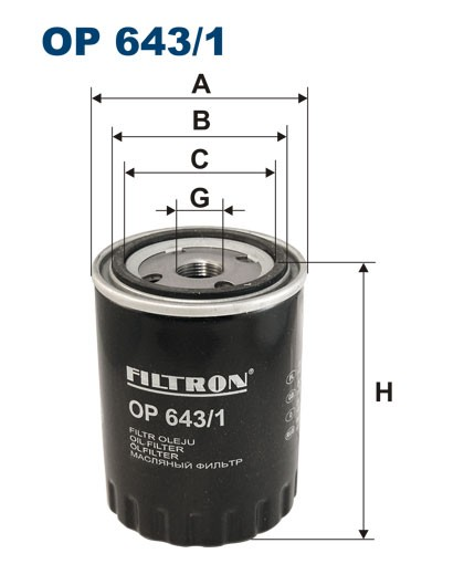Filtr oleju OP 643/1 (OP6431) FILTRON