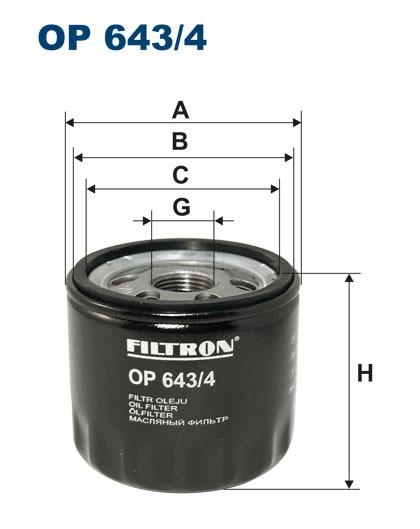 Filtr oleju OP 643/4 (OP6434) FILTRON