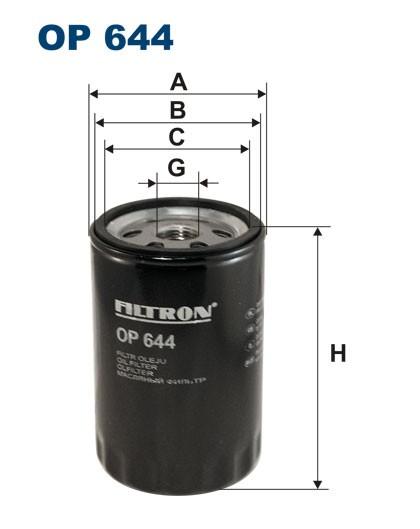 Filtr oleju OP 644 (OP644) FILTRON