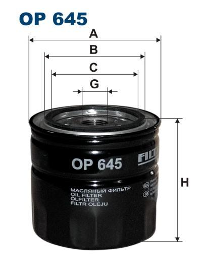 Filtr oleju OP 645 (OP645) FILTRON