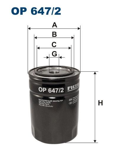 Filtr oleju OP 647/2 (OP6472) FILTRON