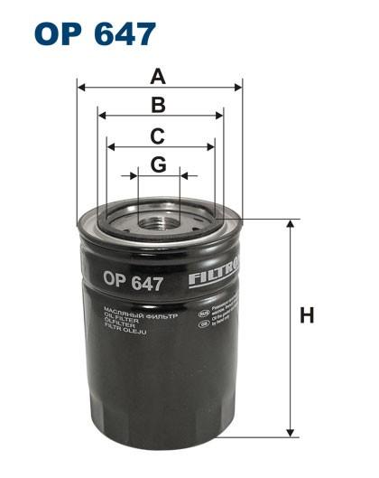Filtr oleju OP 647 (OP647) FILTRON