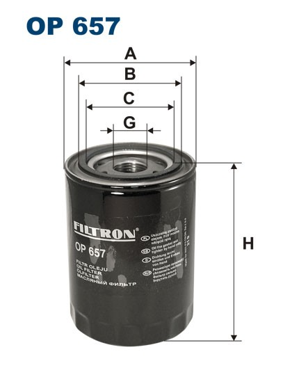 Filtr oleju OP 657 (OP657) FILTRON