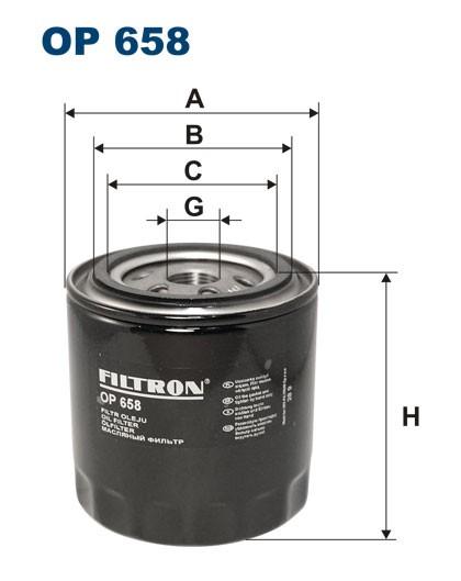 Filtr oleju OP 658 (OP658) FILTRON