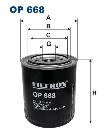 Filtr oleju OP 668 (OP668) FILTRON