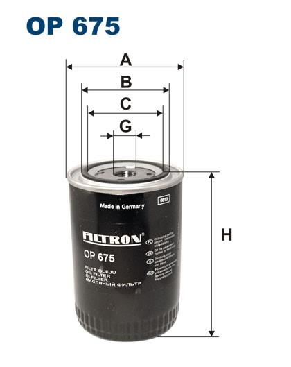 Filtr oleju OP 675 (OP675) FILTRON