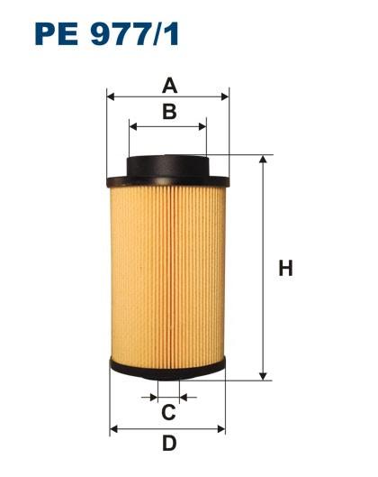 Filtr paliwa PE 977/1 [PE9771] FILTRON