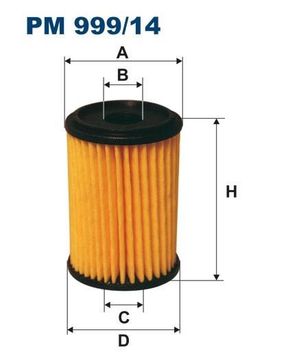 Filtr paliwa PM 999/14 [PM99914] FILTRON