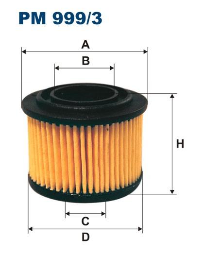 Filtr paliwa PM 999/3 [PM9993] FILTRON