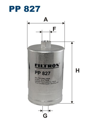 Filtr paliwa PP 827 [PP827] FILTRON