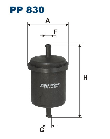 Filtr paliwa PP 830 [PP830] FILTRON