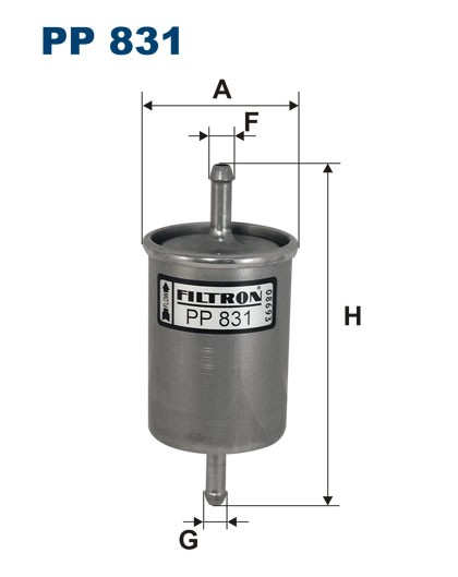 Filtr paliwa PP 831 [PP831] FILTRON
