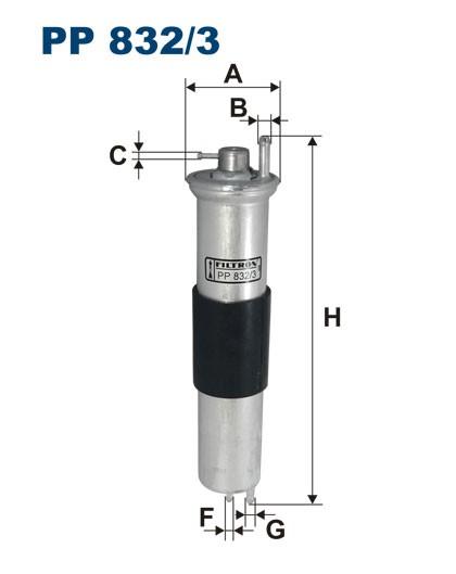 Filtr paliwa PP 832/3 [PP8323] FILTRON