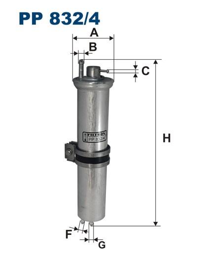 Filtr paliwa PP 832/4 [PP8324] FILTRON