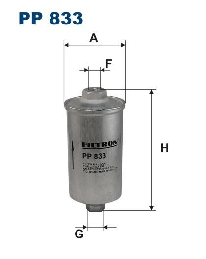 Filtr paliwa PP 833 [PP833] FILTRON