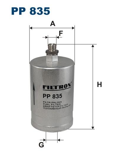 Filtr paliwa PP 835 [PP835] FILTRON