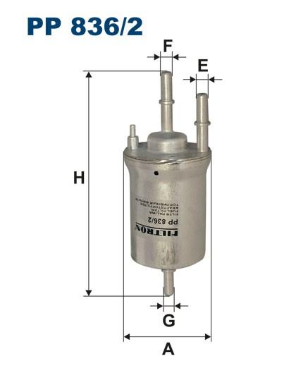 Filtr paliwa PP 836/2 [PP8362] FILTRON