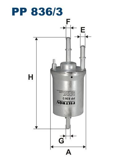 Filtr paliwa PP 836/3 [PP8363] FILTRON