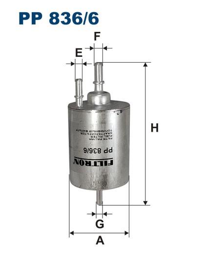 Filtr paliwa PP 836/6 [PP8366] FILTRON