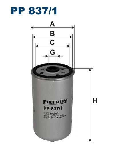 Filtr paliwa PP 837/1 [PP8371] FILTRON