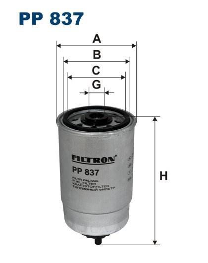 Filtr paliwa PP 837 FILTRON [PP837]