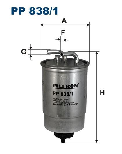 Filtr paliwa PP 838/1 [PP8381] FILTRON