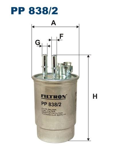 Filtr paliwa PP 838/2 [PP8382] FILTRON