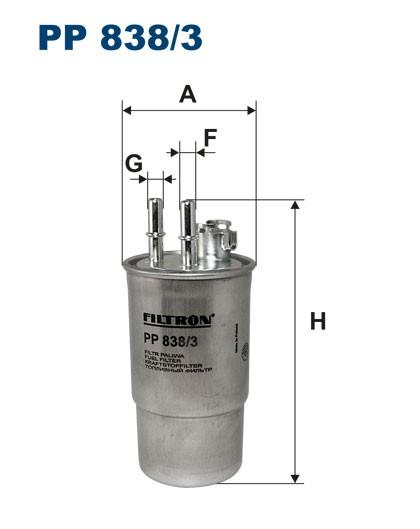 Filtr paliwa PP 838/3 [PP8383] FILTRON