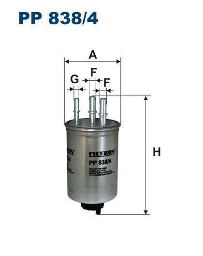 Filtr paliwa PP 838/4 [PP8384] FILTRON