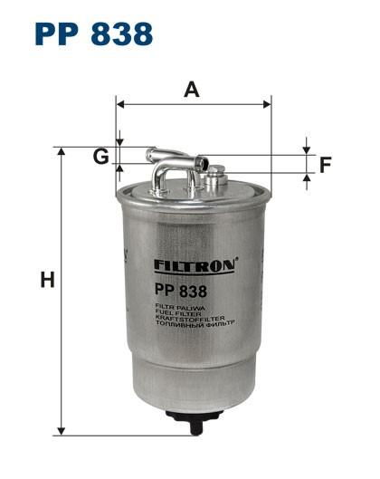 Filtr paliwa PP 838 FILTRON [PP838]