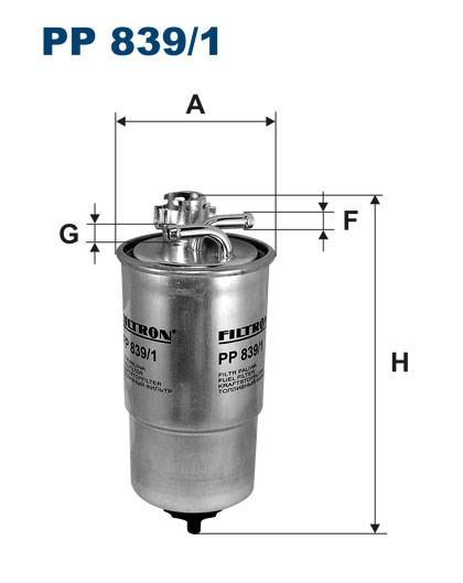 Filtr paliwa PP 839/1 [PP8391] FILTRON