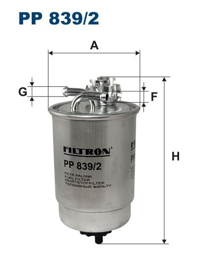 Filtr paliwa PP 839/2 [PP8392] FILTRON
