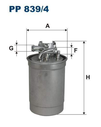 Filtr paliwa PP 839/4 [PP8394] FILTRON
