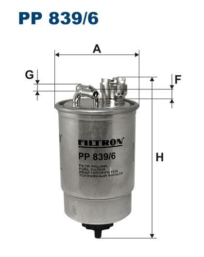 Filtr paliwa PP 839/6 [PP8396] FILTRON