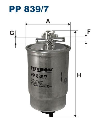 Filtr paliwa PP 839/7 [PP8397] FILTRON