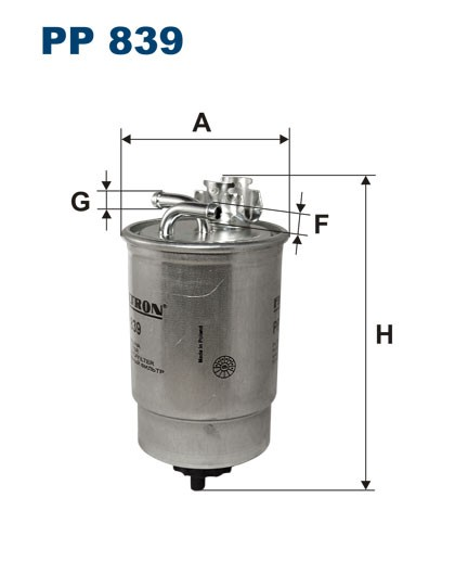 Filtr paliwa PP 839 [PP839] FILTRON