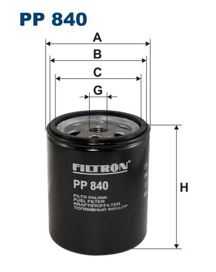 Filtr paliwa PP 840 [PP840] FILTRON
