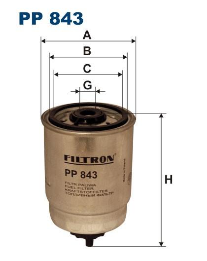 Filtr paliwa PP 843 [PP843] FILTRON