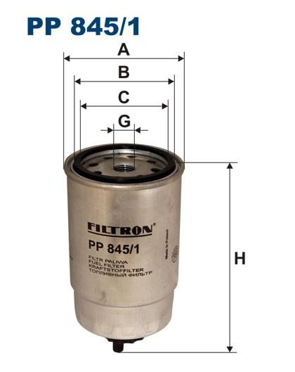 Filtr paliwa PP 845/1 [PP8451] FILTRON