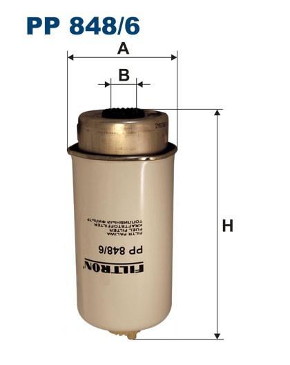 Filtr paliwa PP 848/6 [PP8486] FILTRON