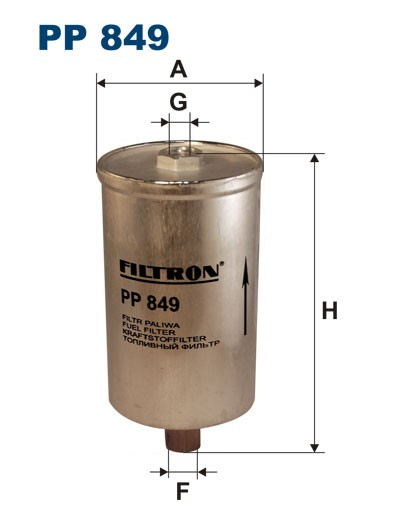 Filtr paliwa PP 849 [PP849] FILTRON