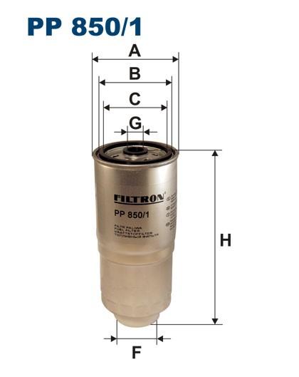 Filtr paliwa PP 850/1 [PP8501] FILTRON