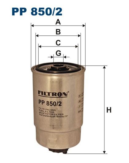Filtr paliwa PP 850/2 [PP8502] FILTRON