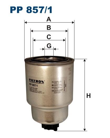 Filtr paliwa PP 857/1 [PP8571] FILTRON
