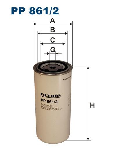 Filtr paliwa PP 861/2 [PP8612] FILTRON