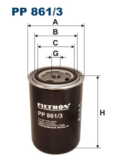 Filtr paliwa PP 861/3 [PP8613] FILTRON