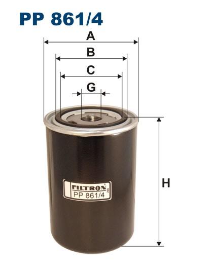 Filtr paliwa PP 861/4 [PP8614] FILTRON