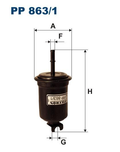 Filtr paliwa PP 863/1 [PP8631] FILTRON