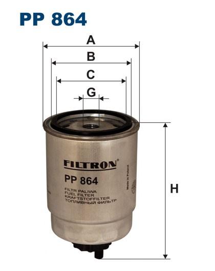 Filtr paliwa PP 864 [PP864] FILTRON