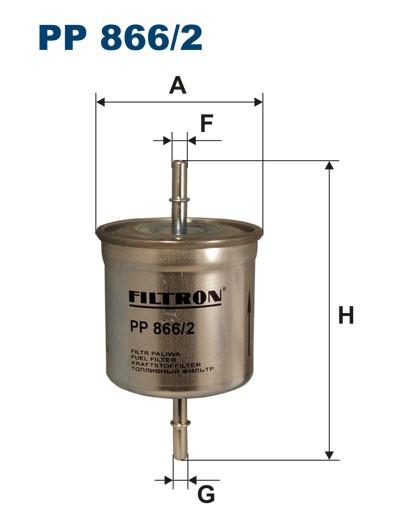 Filtr paliwa PP 866/2 [PP8662] FILTRON